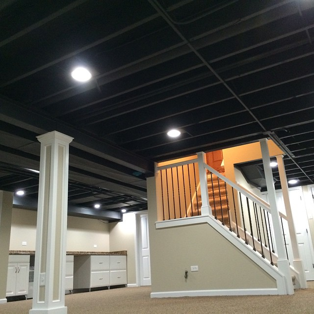 custom staircase and pillars