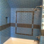 blue tile shower custom