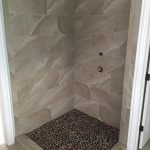 shower stone floor tile walls