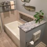 fancy custom tub stone tile