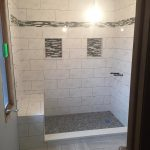 fancy shower tile